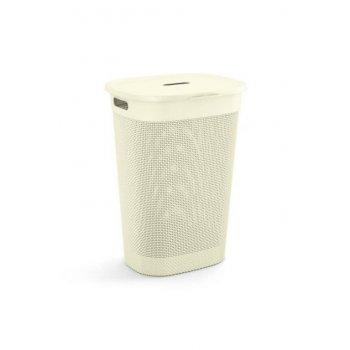 Plastový koš na prádlo FILO - krémová