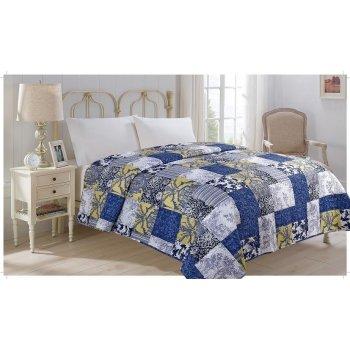 Přehoz přes postel MODROTISK 220 x 240 cm