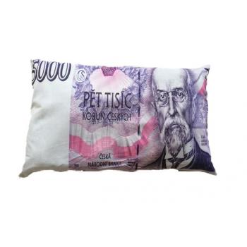 Dekorační polštář bankovka - 5000 Kč