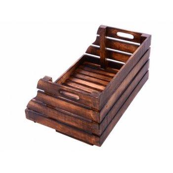 Stohovatelná dřevěná bedýnka  DIVERO vintage