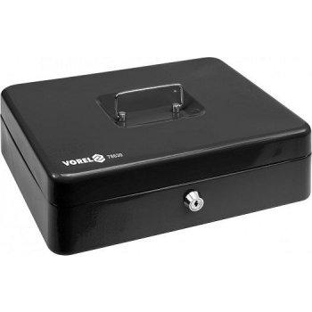 Pokladna příruční 300x240x90mm černá, 2klíče