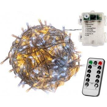 Vánoční LED osvětlení - 5 m, 50 LED, teple a studeně bílé