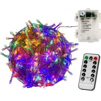 Vánoční osvětlení 5 m - barevné 50 LED na BATERIE ovladač