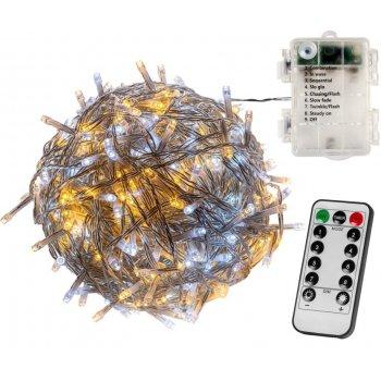 VOLTRONIC Vánoční řetěz 10 m,100 LED, teple a studeně bílý