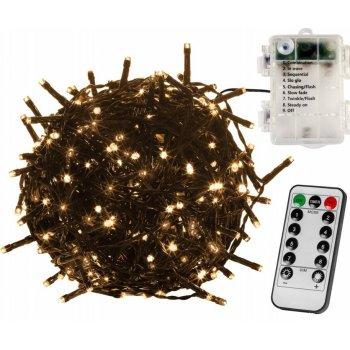 Vánoční řetěz - 20 m, 200 LED, teple bílý, na baterie