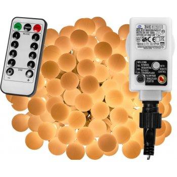Párty LED osvětlení 20 m - teple bílá 200 diod + ovladač