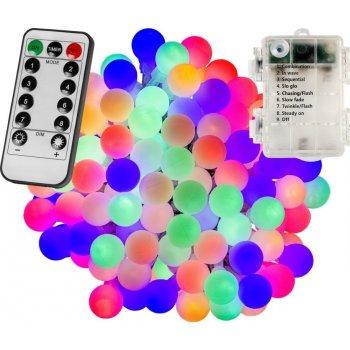 Párty LED osvětlení 20m - barevné 200 diod - BATERIE ovladač
