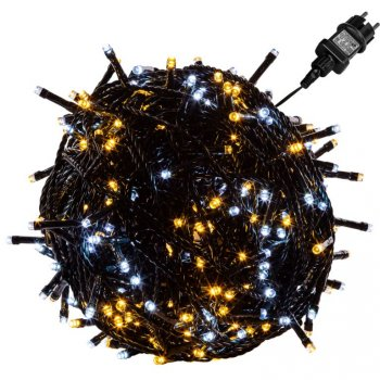 Vánoční osvětlení 20 m - teple/studeně bílá 200 LED