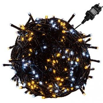VOLTRONIC Vánoční řetěz - 5 m, 50 LED, teple a studeně bílý