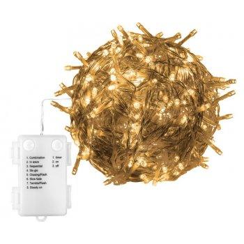 VOLTRONIC® sada 3 ks 100 LED světelných řetězů, teplá bílá,