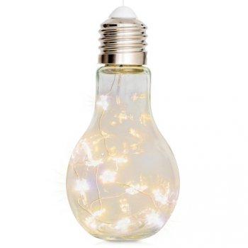 Dekorační vánoční osvětlení - žárovka, 10 LED