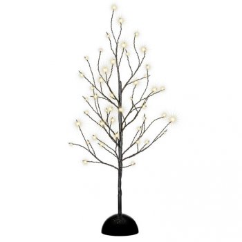 Dekorativní LED světelný strom s 48 LED, 60 cm - černý