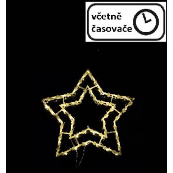 Vánoční dekorace na okno - 50 LED, hvězda