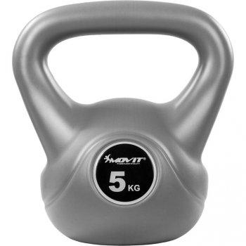 Kettlebell činka šedá - 5 kg