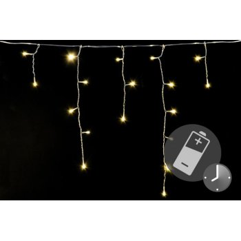 Vánoční světelný déšť - 5 m, 144 LED, teple bílý,s časovačem