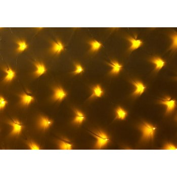 Vánoční LED světelná síť - 3 x 3 m, 128 diod, teple bílá