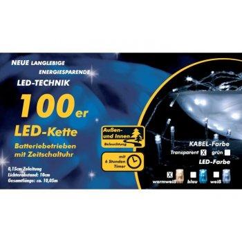Vánoční LED řetěz - 10 m, 100 diod, teple bílý