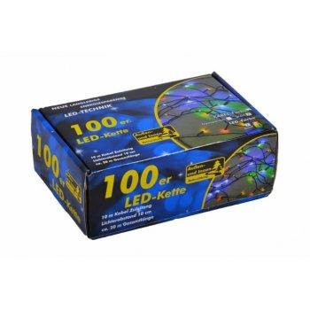 Vánoční LED řetěz - 10 m, 100 LED, barevný