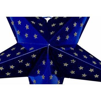 Vánoční hvězda s časovačem 60 cm, 10 LED, modrá
