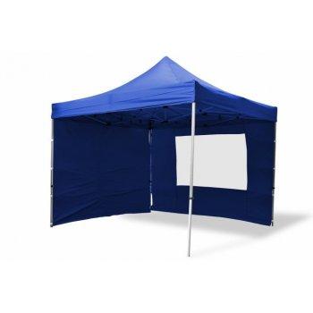 Zahradní párty stan nůžkový PROFI 3x3 m modrý + 4 boční stěny D06377