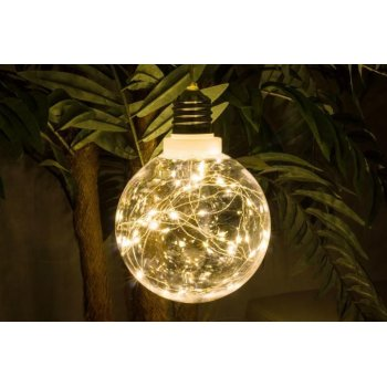 Vánoční dekorace - žárovka, 40 LED, teple bílá