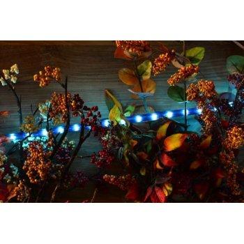Světelný kabel - 720 minižárovek, 20 m, modrý
