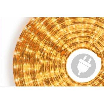 Světelný kabel - 360 minižárovek, 10 m, žlutý