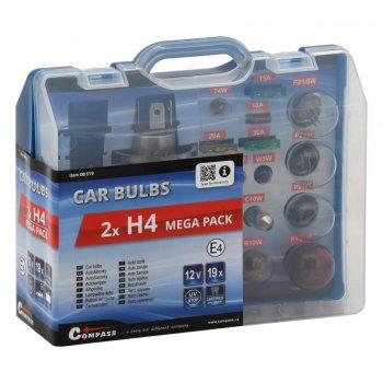 Servisní box 12 V žárovek - 2 x H4 + pojistky