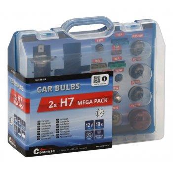 Servisní box 12 V žárovek  - 2 x H7 + pojistky