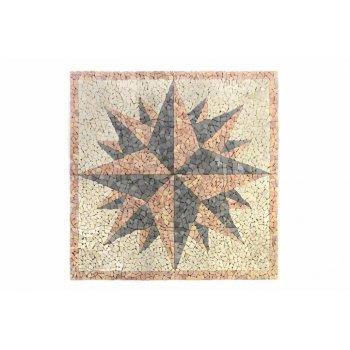 Mramorová mozaika kompas DIVERO - 120 x 120 cm
