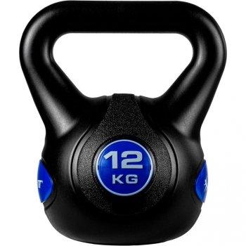MOVIT Kettlebell činka - 12 kg, černá/tmavě modrá