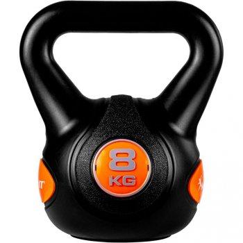 MOVIT Kettlebell činka - 8 kg, černá/oranžová