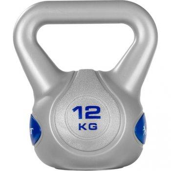 MOVIT Kettlebell činka - 12 kg, šedá/tmavě modrá