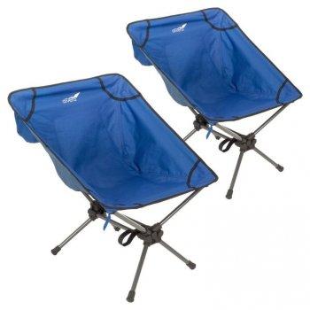 Set kempinkových křesílek, modré