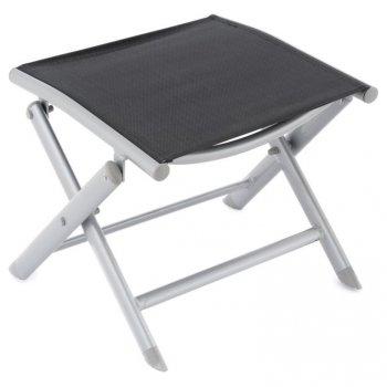 Sklopná hliníková stolička, světle šedá