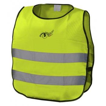 Výstražná dětská vesta S.O.R. - 53 cm, žlutá