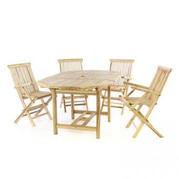 Zahradní sada – roztahovací stůl, 4 židle