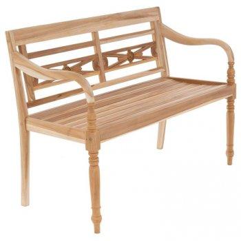 DIVERO Zahradní dřevěná lavička - 119 cm
