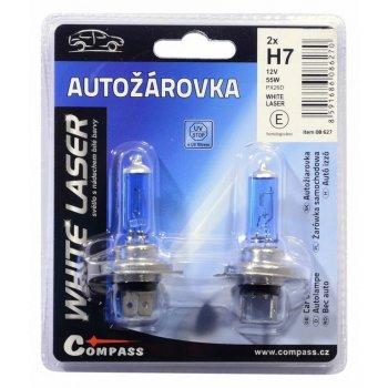 Žárovka 12V  H7, 55W PX26d WHITE LASER blister - 2ks