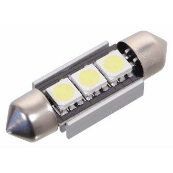 Žárovka 3 SMD LED 12V suf., s rezistorem CAN-BUS ready bílá