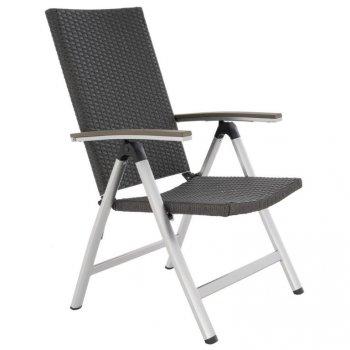 Zahradní židle s opěrkami, hliník