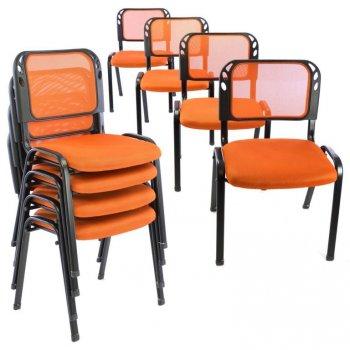 Sada stohovatelných židlí - 8 ks, oranžová