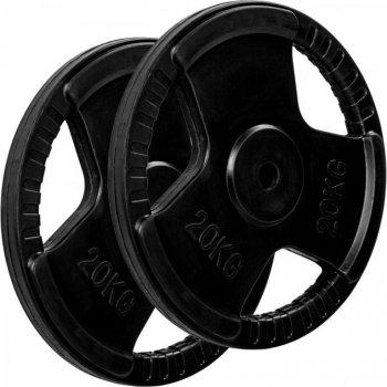 MOVIT sada závaží na činky s gumovým úchytem - 20 kg, litina