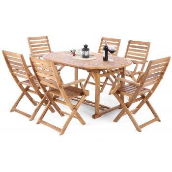 Set zahradního nábytku Oval Cross pro 6 osob