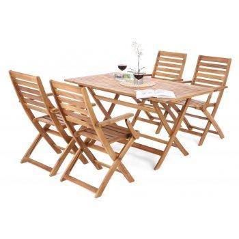 Set zahradního nábytku Cross pro 4 osoby - akátové dřevo
