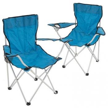 Set skládacích židlí - modrá