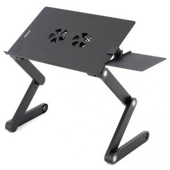 Notebookový stůl s USB -  42 x 28 cm, chlazení