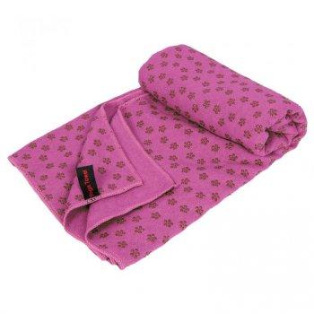 Protiskluzový ručník na jógu - 183 x 61 cm, růžový