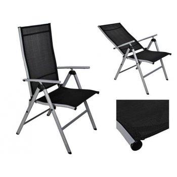 Zahradní skládací polohovatelná židle - 66 x 54 x 103 cm