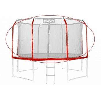 Sada krytu pružin a rukávů na trampolínu - červená, 366 cm